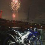 Ninja1000でシークレット花火を見に行きました
